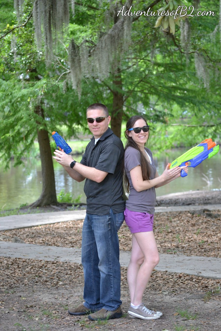Water Gun Fight Photoshoot