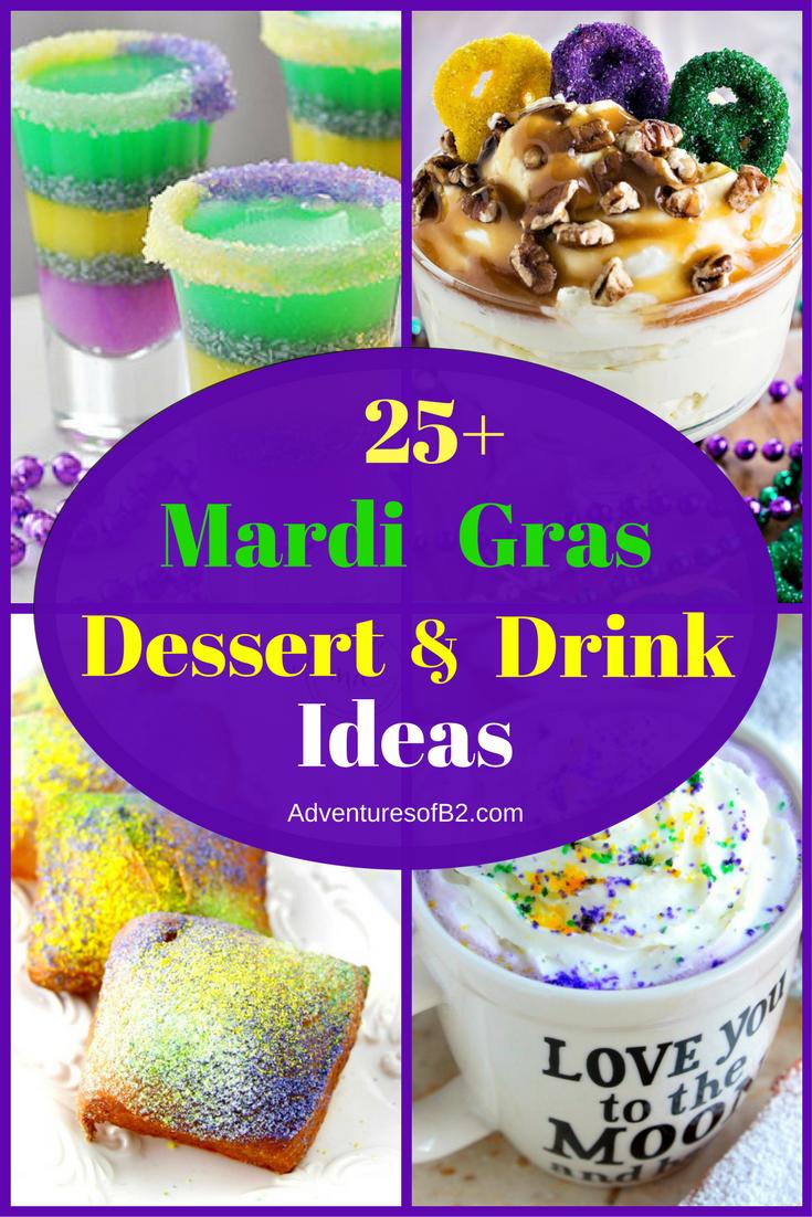 25 Mardi Gras Dessert & Drink Ideas