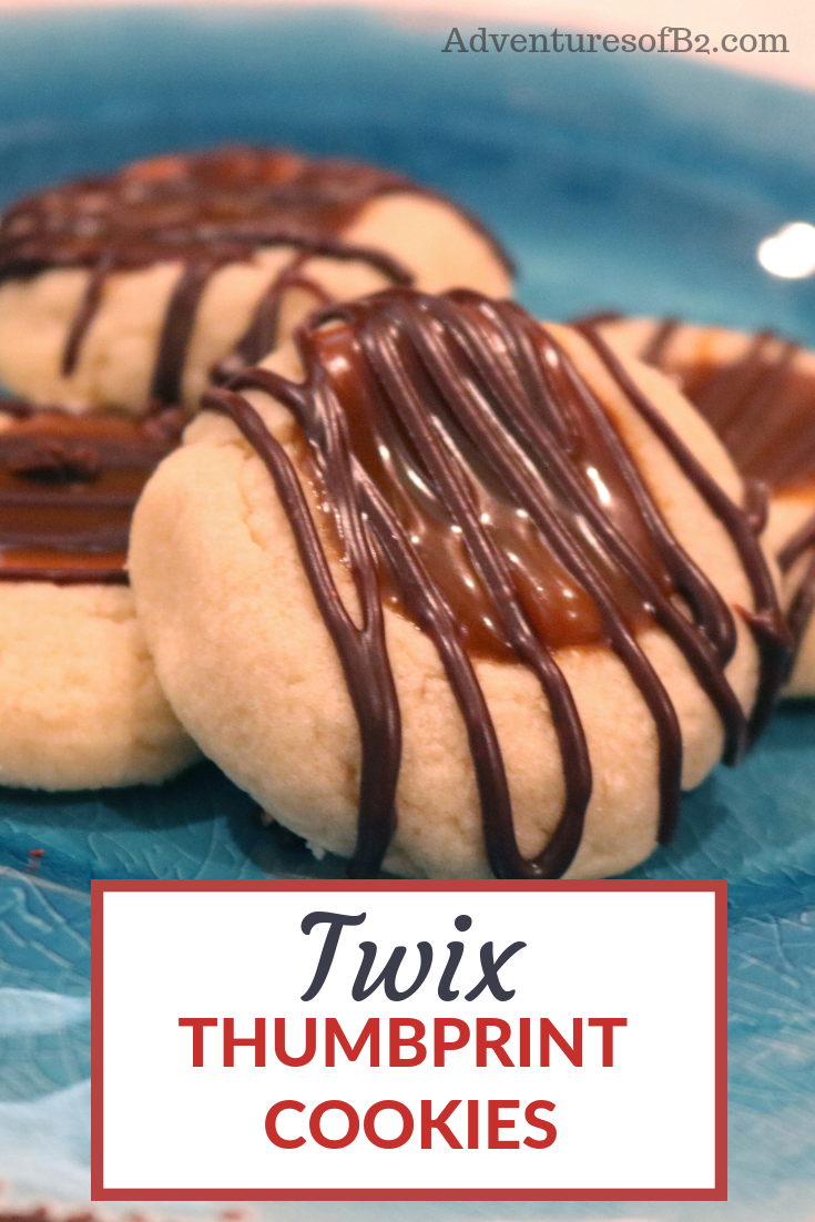 Super Easy Twix Thumbprint Cookies