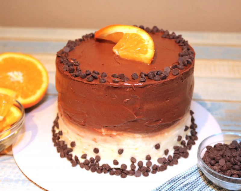 Chocolate Orange Peach Cake