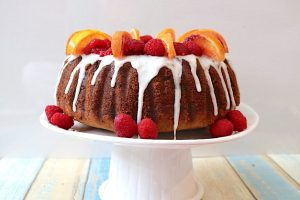 Raspberry and Blood Orange Bundt Cake