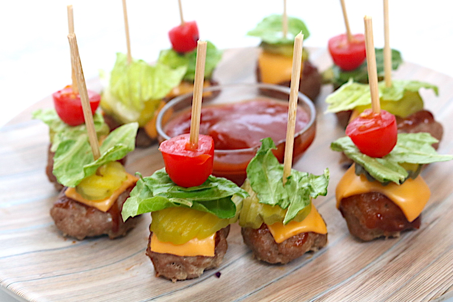 Low-Carb Mini Cheeseburger Bites