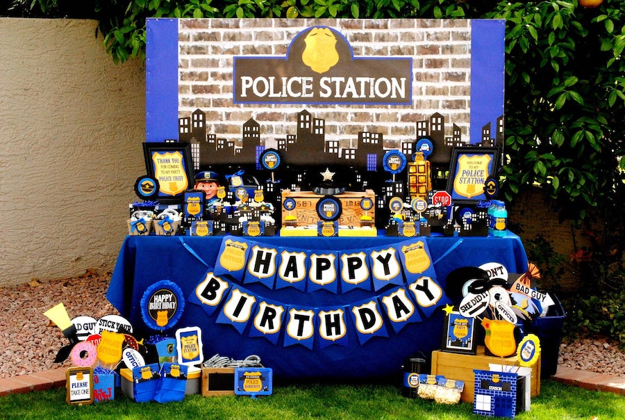 Police Themed Birthday Party
