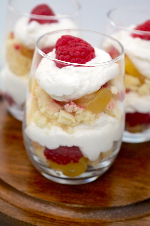Mini Lemon Raspberry Trifle